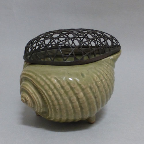 古伊万里青磁貝形香炉