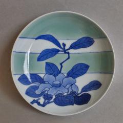 鍋島青磁椿文五寸皿